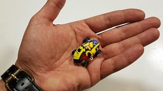 INCREDIBLY micro scale 3D Stunt RC Car gets unboxed & tested!