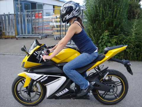 yamaha yzf r 125 gelb youtube. Black Bedroom Furniture Sets. Home Design Ideas