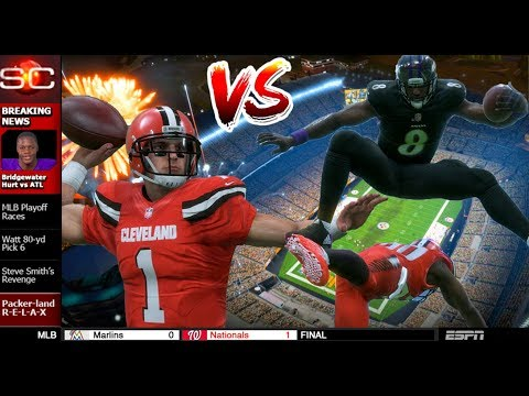 LAMAR JACKSON VS BAKER MAYFIELD! GAME COMES DOWN TO THE LAST PLAY! - MADDEN 18 CAREER MODE