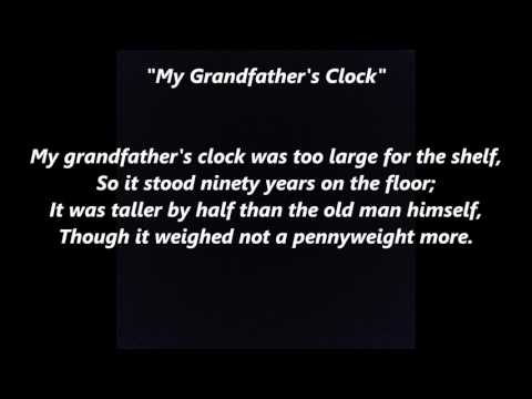 My Grandfather's Clock words lyrics best top popular favorite trending sing along song songs