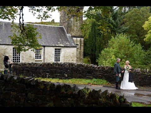 Gorgeous, intimate church wedding at Crear in Argyll