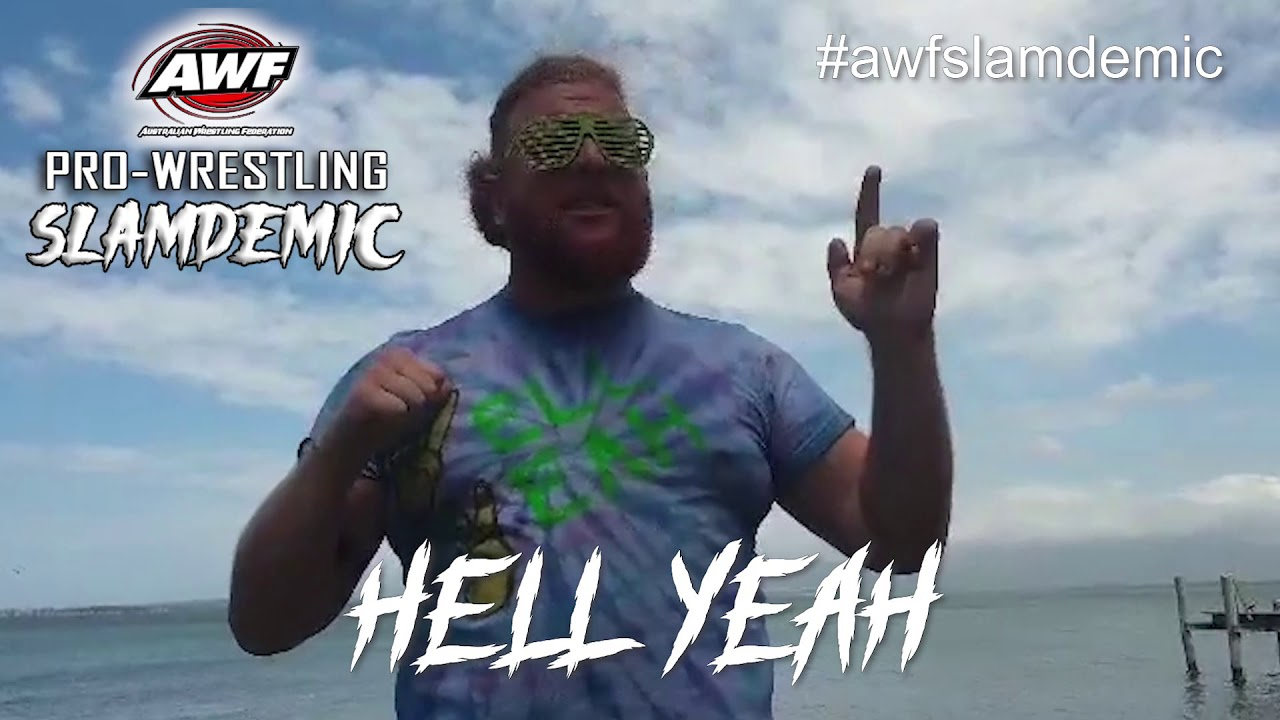 Hell Yeah is excited for his match against Mad Maxx at AWF Pro-Wrestling Slamdemic