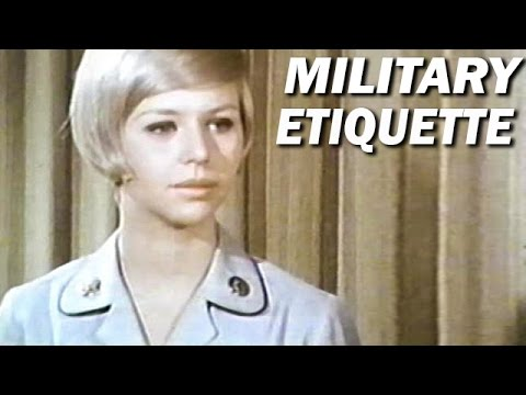 Military Etiquette for Women in Service | US Army Training Film | 1970