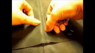 Кожа. Расстрочной шов.(Кожа. Как сделать расстрочной шов? https://youtu.be/4rS9Psvco80 Обработка припусков шва и лапка, дающая ровную строчку..., 2015-12-01T18:31:42.000Z)
