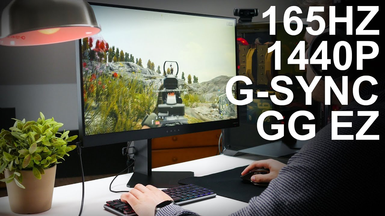 HP Omen 27 165Hz 1440p g-sync gaming monitor review