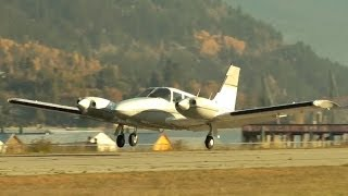 Piper PA-34 Seneca Approach and Landing
