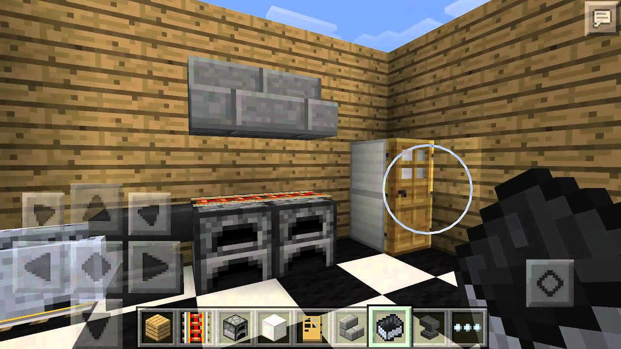 Kitchen Ideas Minecraft Pe how to build a kitchen in minecraft pe - youtube