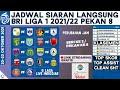 🔴Link Streaming gratis, Jadwal Liga 1 2021 Live Indosiar Pekan 8 Seri 2 Lengkap dan Klasemen Terbaru