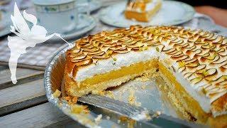 Erfrischende Zitronen Baiser Tarte - Zitronen Tarte mit abgeflämmter Baiser - Kuchenfee AD