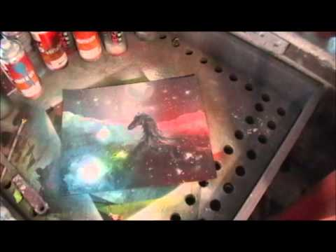 spray paint art sunsets,chinese painting, faces, woodblock technique, zombie,dolphins,galaxies