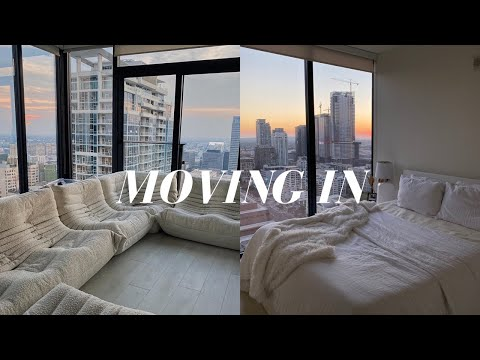 Moving into my Los Angeles Apartment! | Empty Apartment Tour & Decorating