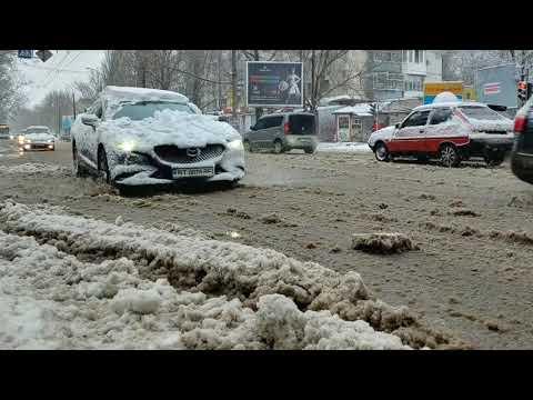 В Херсоне в феврале выпал первый снег за зиму