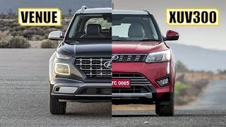 Compare cars Venue vs xuv300 | Hyundai venue interior, hyundai venue mileage | Mahindra xuv300 price