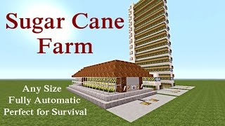 Minecraft Tutorial : Automatic Sugar Cane Farm Unlimited Supply Plus MORE :-)