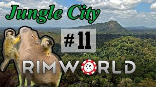 The Wall That Raiders Forgot [11] Jungle City Rimworld High Pop Challenge