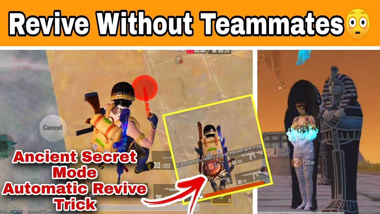 😳Pubg Mobile New Automatic Revive Trick In Ancient Secret Mode | Revive Without Teammates New Trick