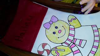 🎄 Reborn toddler Hailey finished her Christmas stocking 🎄