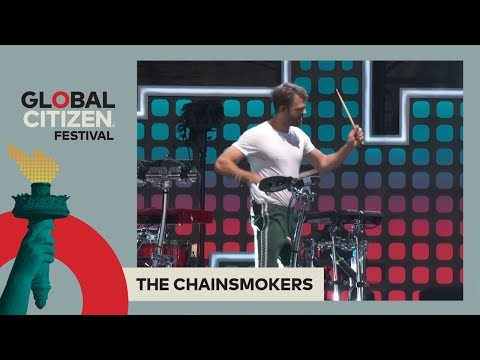 The Chainsmokers Perform One & Roses  Global Citizen Festival NYC 2017