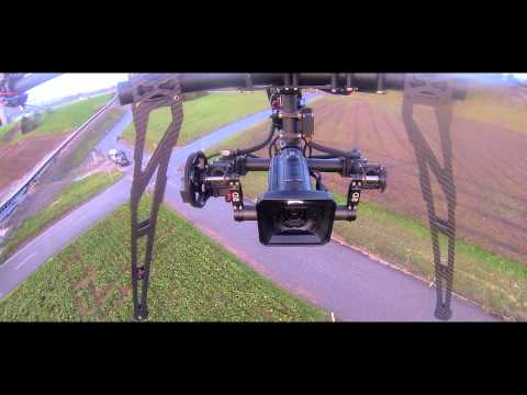 Tarot T1000 Octocopter 2nd flight with 3 axis gimbal and Radian System