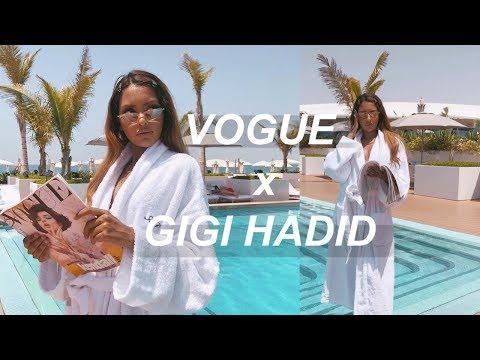 attending vogue x gigi hadid event in Burj Al Arab, Dubai ♡