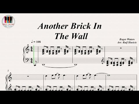 Another Brick In The Wall - Pink Floyd, Piano
