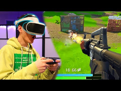 FORTNITE IN FIRST PERSON! Fortnite: Battle Royale In VR! (First Person Mode)
