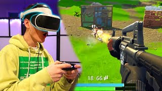 FORTNITE IN FIRST PERSON! Fortnite: Battle Royale In VR! (First Person Mode)   David Vlas