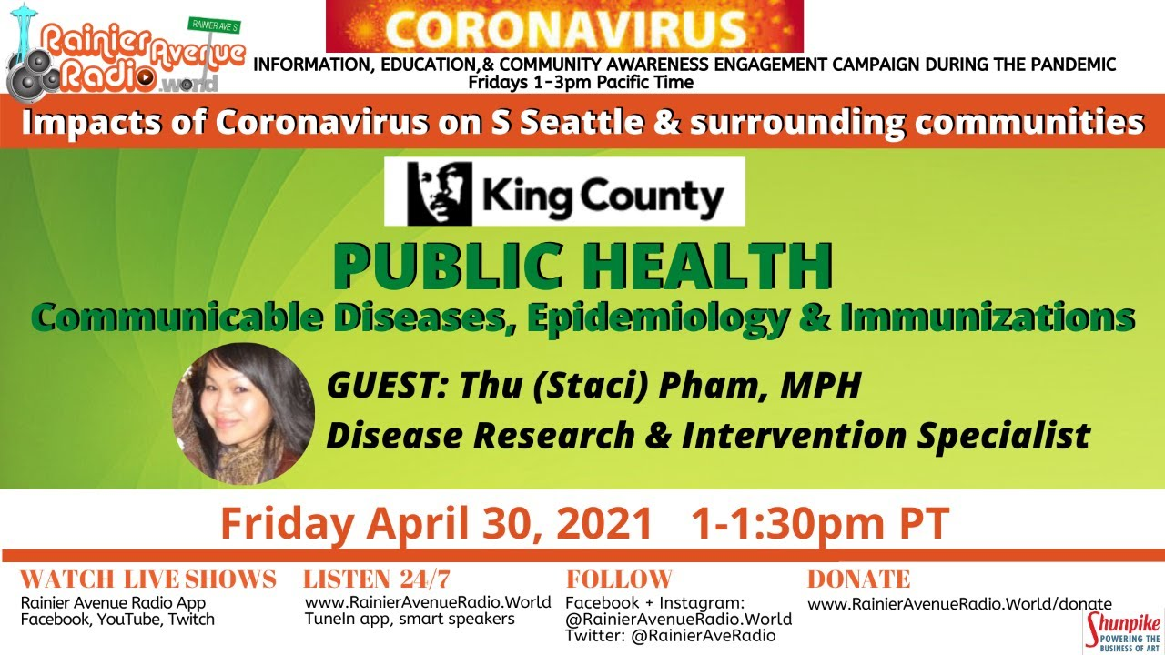 4-30-21 Impacts of Coronavirus: Public Health Seattle King County, Dept of Communicable Diseases
