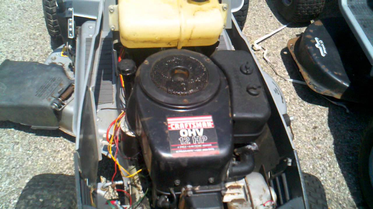 Craftsman 38 Inch Riding Mower Lt Motor For Parts
