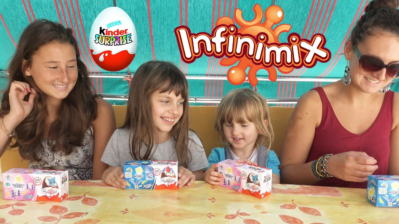 oeuf 12 kinder surprise infinimix avec les cousines studio bubble tea unboxing surprise eggs. Black Bedroom Furniture Sets. Home Design Ideas