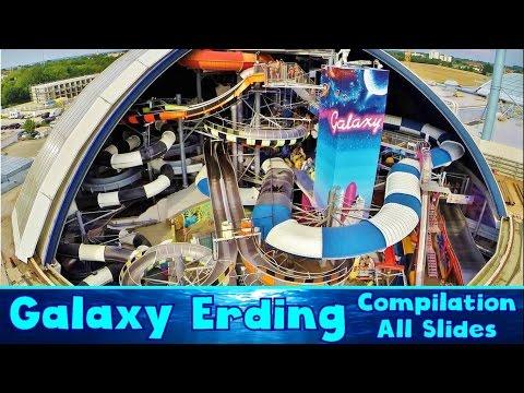 ALL BIG INDOOR WATER SLIDES at Galaxy Erding!! [Compilation]