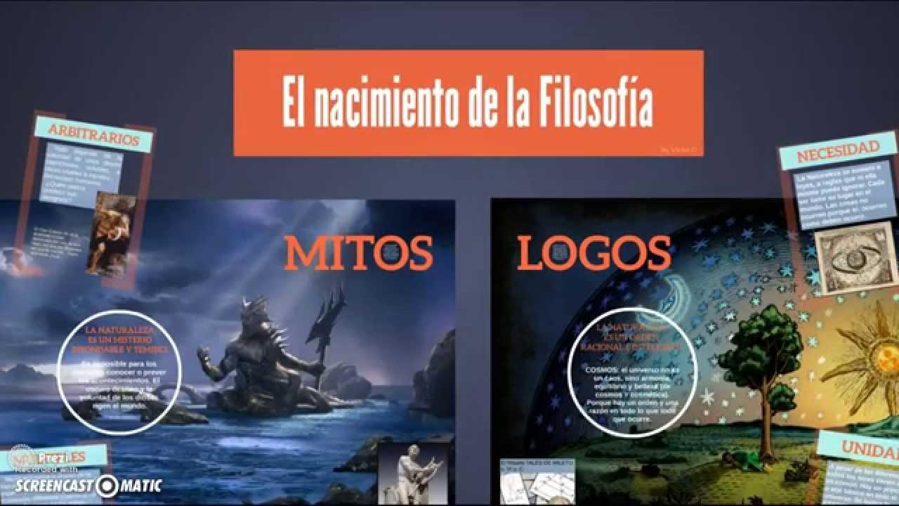 Origen De La Filosof 237 A Del Mito Al Logos Youtube