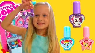 Funny Videos with Toys and Nail polish for kids