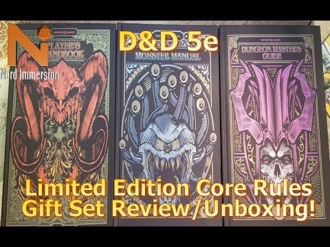 Limited Edition D&D 5e Core Rules Gift Set Review/Unboxing | Nerd Immersion