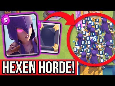 hexen-Überfall!- -8x-hexe-+-spiegeln-+-rage!-zauber- -clash-royale-[deutsch/german]