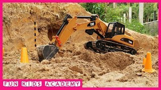 Excavator videos for children | Trucks for children and kids | Construction trucks for children