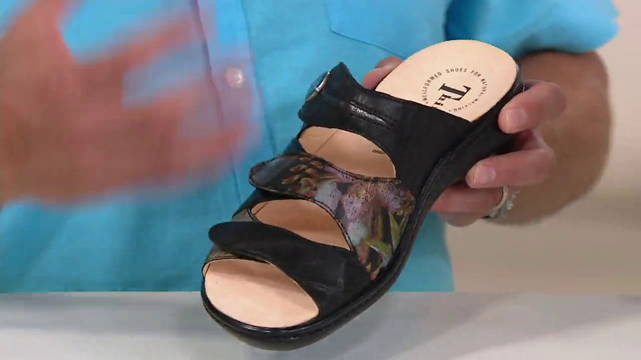 b6c5aca1f3c Think! Leather Adjustable Slide Sandals- Camilla on QVC