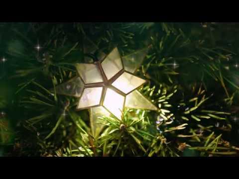 Футаж Новогодний фон Звезда на елке Блики FOOTAGE