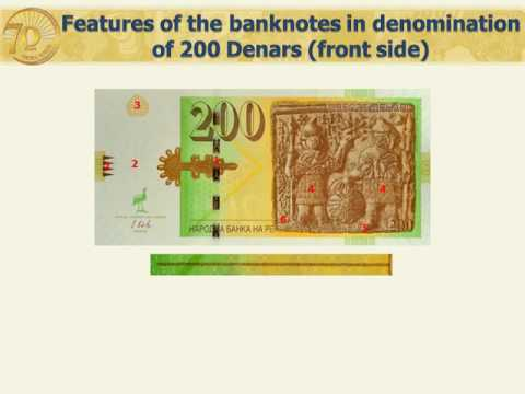 Features of the banknotes in denomination of 200 Denars