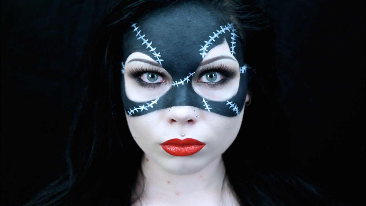 catwoman mask makeup halloween costume tutorial requested batman returns 1992 inspired youtube