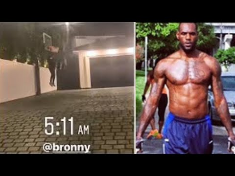 Bronny Wakes Up At 5AM For His Workout