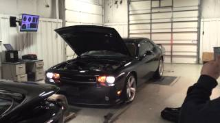 2012 392 srt8 challenger 6.4 6 speed bolt on Dyno