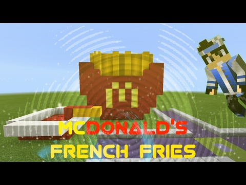 Mcdonald S French Fries Speed Build Buildtkbg World 4 Minecraft Gameplay