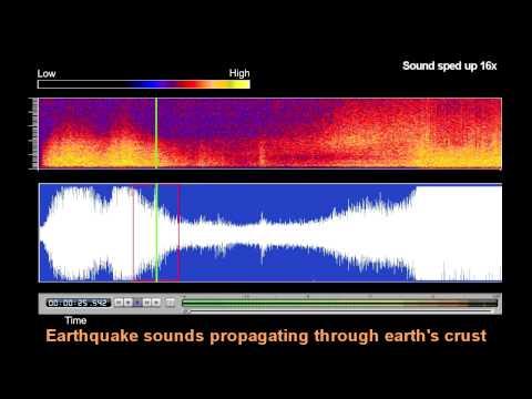 Underwater Microphone Captures Honshu, Japan Earthquake