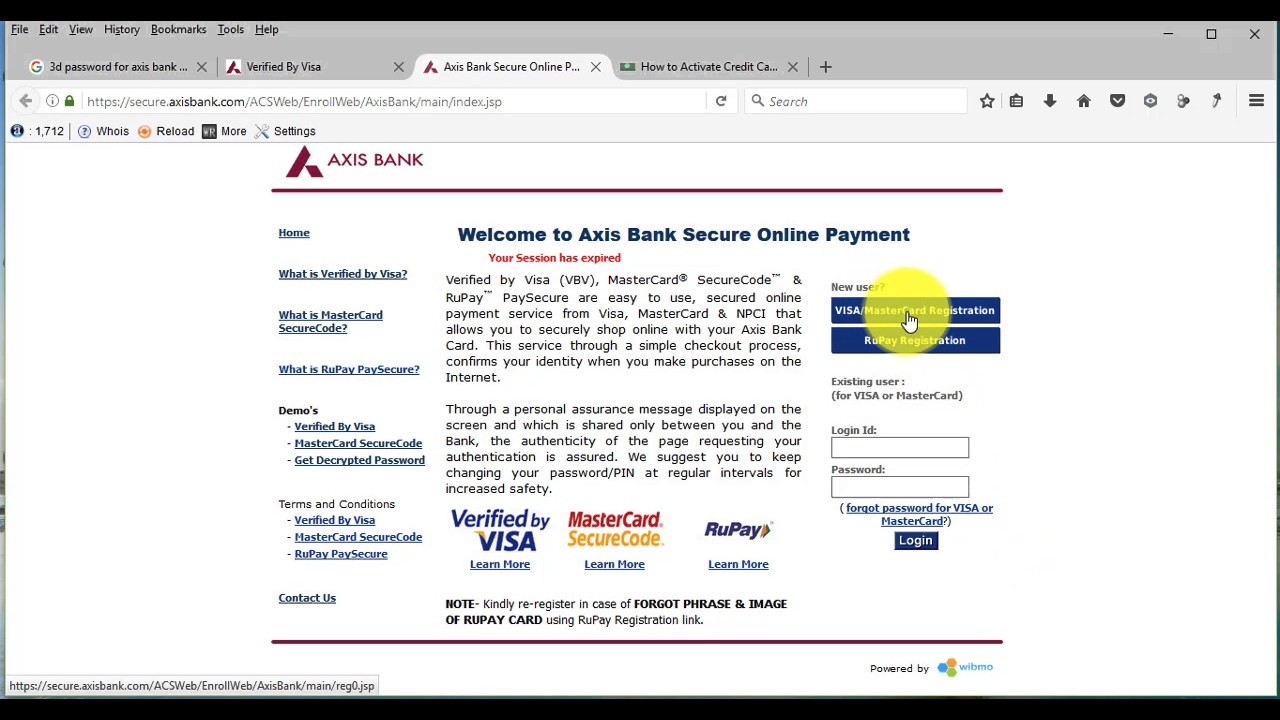 How to activate axis bank credit card for first time part1 youtube how to activate axis bank credit card for first time part1 colourmoves