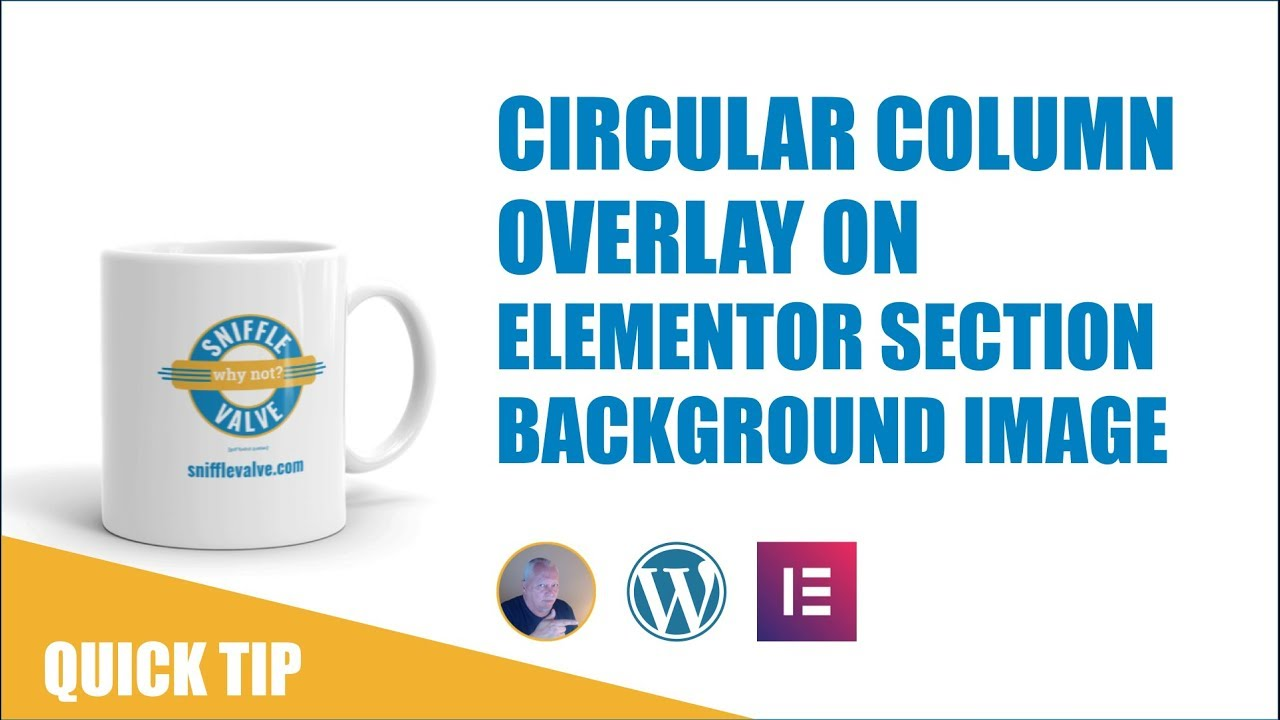 Elementor - Circular Column Overlay on Section Image