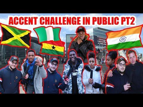 Accent Challenge In Public PT2 - Stratford & Croydon
