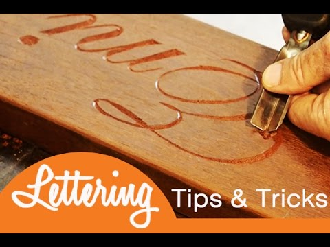 How to make a hand lettering wood sign