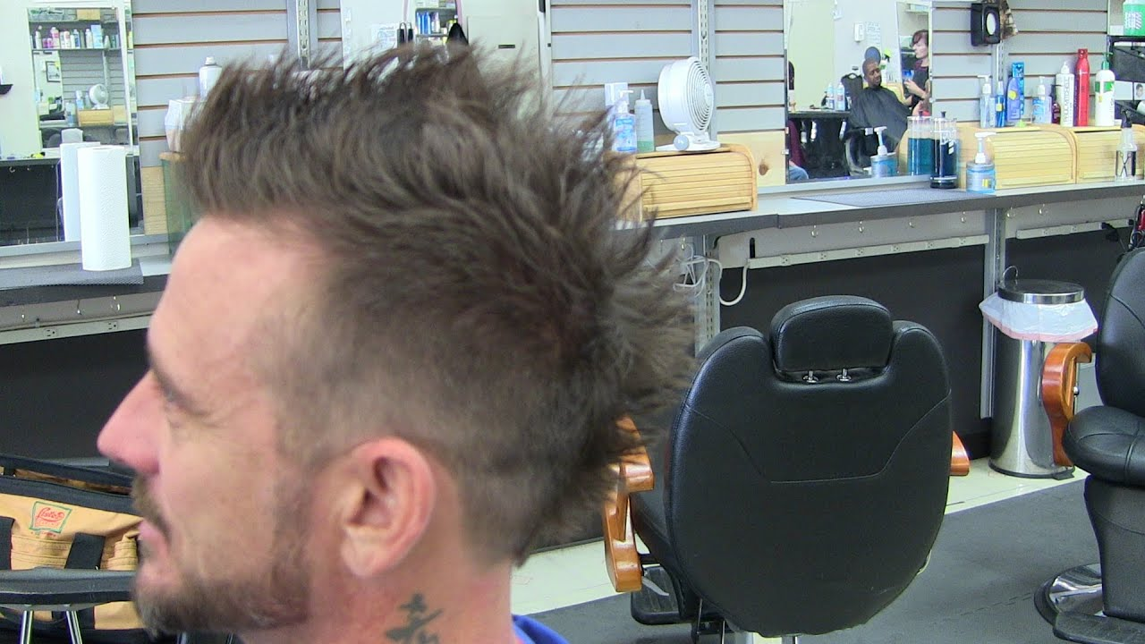 mens hairstyle haircut videos / faded mohawk / frohawk / phoenix compilation
