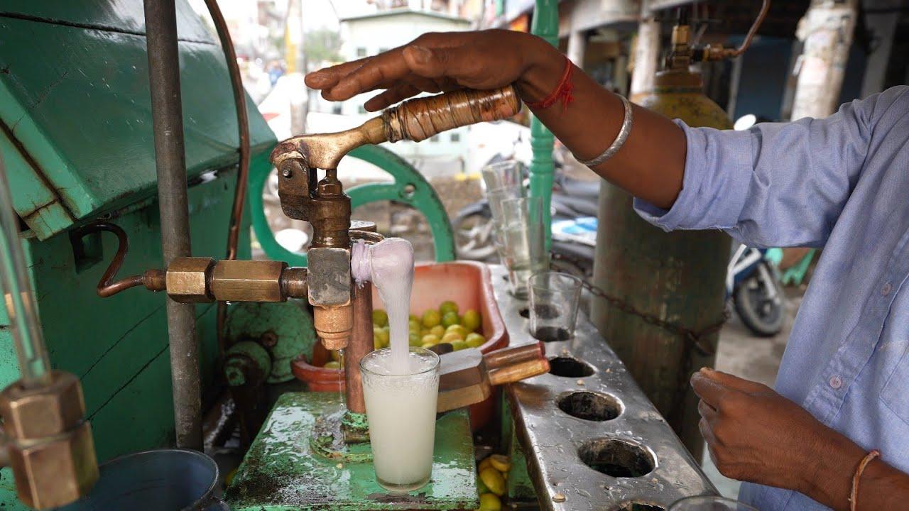 Man Making Lemon Soda Using Amazing Tachnique   Laxmi Soda Water   Indian Street Food